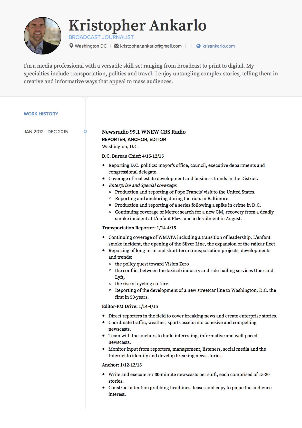 Kris Ankarlo Resume 2016 Jpg ...  How To Construct A Resume